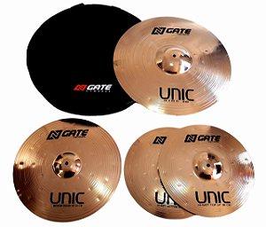Ngate Kit De Prato Unic B8 Bronze 14 16 20 C/ Bag Luxo