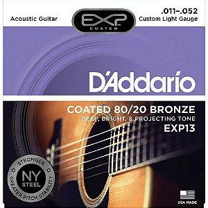 D'addario Encordoamento Violão Aço Coated Bronze 011 Exp13