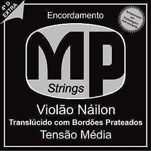 Paganini Jogo De Corda Violão Náilon Translucido C/ Bolinha MPE350