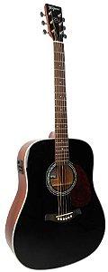 Tagima Violão Folk Eletro Acústico Woodstock Series TW-25BK