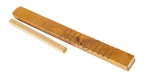 CL Reco Reco De Madeira 30 x 3cm com Baqueta Musicalização Infantil CL1694