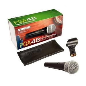 Shure Microfone Vocal Com Fio Pga48lc Garantia 2 Anos
