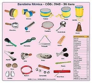 CL Bandinha Rítmica com 36 Instrumentos Musicalização Infantil CL3143