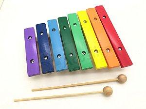 Paganini Xilofone Infantil 8 Notas Colorido 21x17 Cm Pxl808