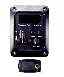 Deval Kit Equalizador 2 Bandas Afinador e Captador CRN2