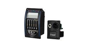 Deval Kit Equalizador 4 bandas Afinador Microfone captador GKRV-4AM