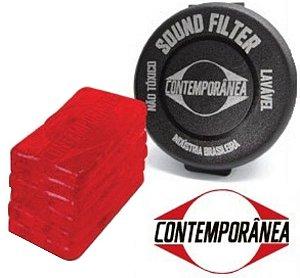 Contemporânea Abafador de Pele Sound Filter Moongel 48SF