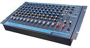 Oneal Mesa de Som Analógica 12 canais P10 / XLR / USB / 1 Auxiliar OMX12usb