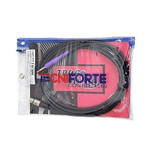 Tecniforte Cabo de Microfone True Voice XLR F x P10 Mono 3,05 Metros 10 FT TV10XPMR