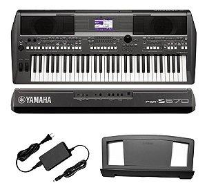 Yamaha Teclado C/Fonte PSR S670