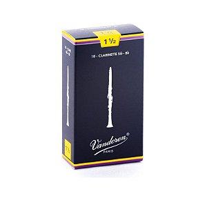 Vandoren Palheta Tradicional P/Clarinete 1,5 SIB 2200