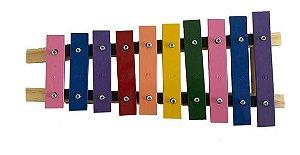 JOG Vibratom Metalofone Colorido 10 Teclas P2134