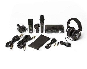 Mackie Producer Bundle Kit Home Studio Microfone Interface fone Cabos