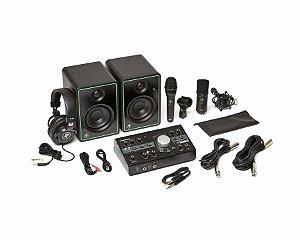 Mackie Studio Bundle Kit Home Studio Microfones Interface controladora Caixas Cabos