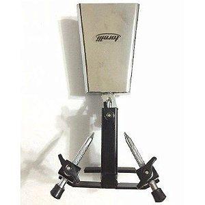 Cowbell Cromado com Clamp 6 + Suporte para Pedal de Bateria - Torelli