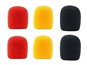PELL Espuma Microfone KIT c/ 6 unidades AM/ PR/ VM 854005