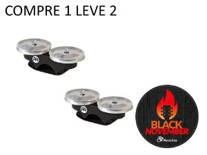 Meinl Finger Jingle Alumínio Chimbal de Dedo Cajon FJS1ABK Full