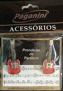 Paganini Prendedor Partitura Clipets Guitarra PPT083 Metal