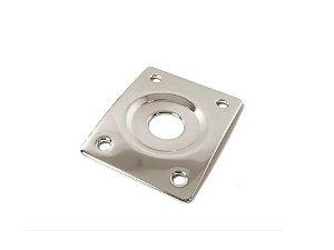 Custom Sound Jack Plate De Metal Quadrado Cromado CJP2Q