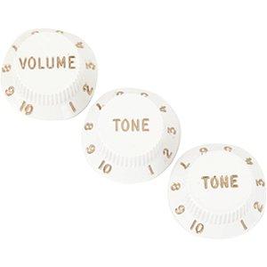 Custom Sound Knob Plástico Modelo ST 3 Peças Branco CKB2-WH
