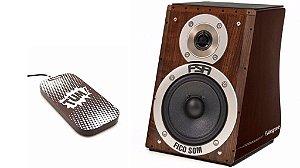 Cajon Fsa Design Alto Falante Captação Dupla + Stomp Box