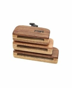 FSA Bloco Sonoro Trio Wood Block C/ Clamp FMB3031