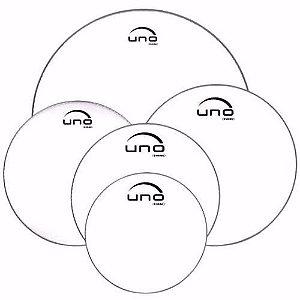 Evans Uno Kit De Pele 10,12,14,14,20 Transparente UPG2CLF20