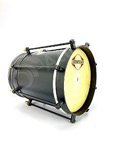 """Contemporânea Cuica Aço Inox Preto Fosco 10"""" 117CPF"""