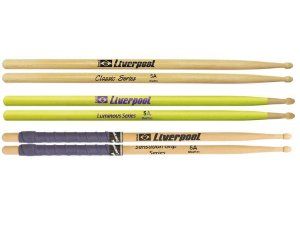 3 Pares Baquetas 5a Liverpool Hickory Sensation Luminous L
