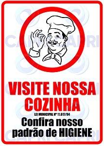 "Placa Adesiva ""VISITE NOSSA COZINHA"""