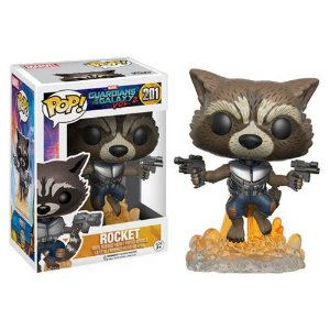 FUNKO POP! MOVIES GUARDIANS OF THE GALAXY GUARDIÕES DA GALAXIA ROCKET #201