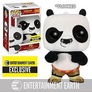 Kung Fu Panda Funko Pop! Flocked Po Exclusivo #250