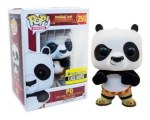 Kung Fu Panda Funko Pop! Flocked Po Exclusivo #250