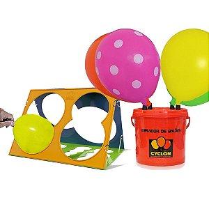 Inflador Profissional de Balões 4 Bicos + Medidor de Balões Cyclon
