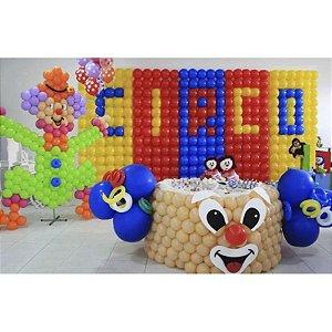 Kit de 8 Telas Dobráveis Para Painel De Balões + 5 Bases Fixas