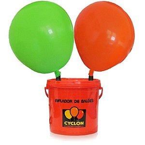 Inflador 2 bicos + medidor de balões + kit 4 telas + 3 bases fixas