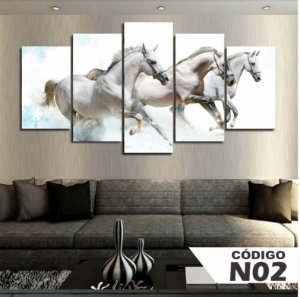 Quadro 3 Cavalos Brancos