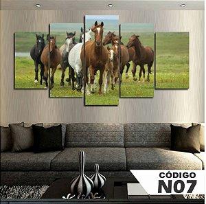 Quadro Decorativo Vários Cavalos