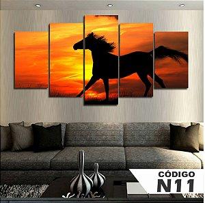 Quadro Cavalo Por do Sol