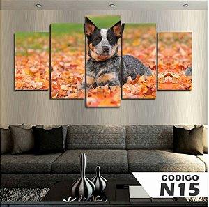 Quadro Cachorro Outono