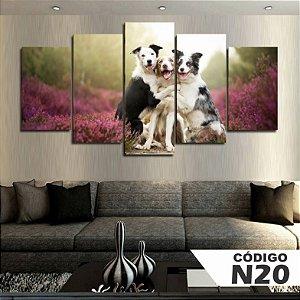 Quadros Decorativos 3 Cachorros Paisagem