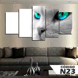 Quadros decorativos gato branco
