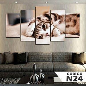 Quadros decorativos gatinho
