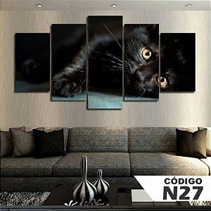 Quadros decorativos gatinho preto