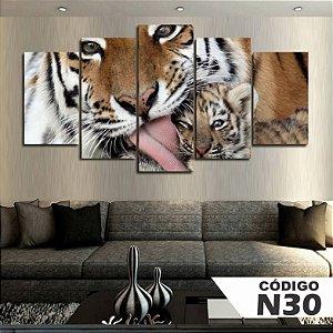 Quadros decorativos tigre com filhote