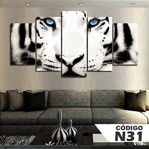 Quadros decorativos tigre branco