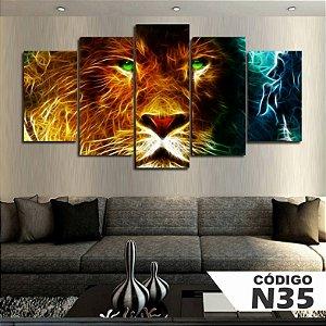 Quadros decorativos leão art