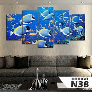 Quadros decorativos peixes mar