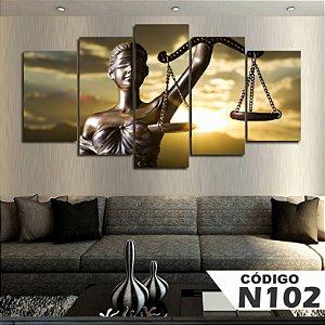 Quadro Balança Justiça advogado