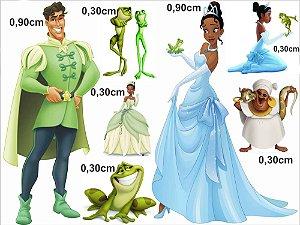 A Princesa e o Sapo - Kit Display em MDF 3mm
